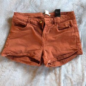 Terra cotta Jean shorts